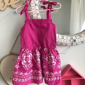 Gymboree pink strap dress 4T
